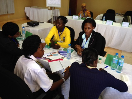 Women's mapping workshop - group work